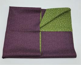 Furoshiki réversible violet et vert
