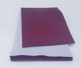 Obi réversible Violet & Blanc mat