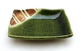 Coupelle carrée pour sauce soja, style Oribe