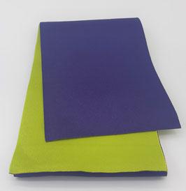 Obi réversible Violet Indigo & Vert Chartreuse