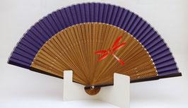 Eventail en soie Libellule (violet)