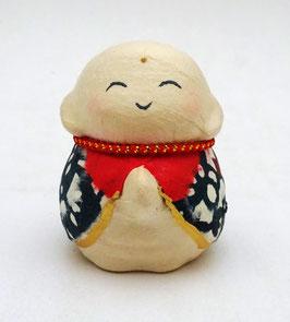Petit jizô en papier mâché japonais (bleu)