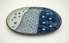 """Plat ovale, motif """"Pruniers"""""""