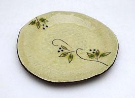 Petite assiette, motifs Feuillages et Branches