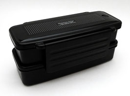"""Boîte à bento compactable """"Monotone Stripe"""" (noire)"""