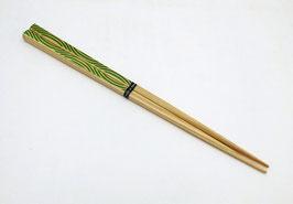 Baguettes bois OEDO motif Namiajiro (vert)
