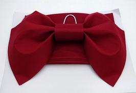 Obi Femme, rouge bordeaux mat,  Nœud déjà fait