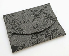 Pochette pour mouchoir Chikutanzome motif Chôjû-giga