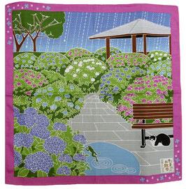 "Furoshiki ""Petite promenade sous la pluie"""