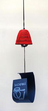 Clochette (fûrin) en fonte Iwachu (rouge)
