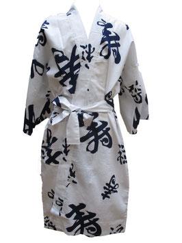 """Yukata """"Bonheur"""" sur fond blanc"""
