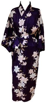 Yukata Lys sur fond violet foncé
