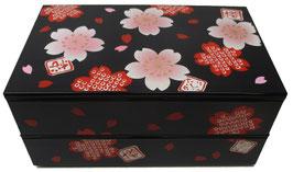 Boîte à bento Sakura sur fond noir