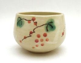 """Tasse à thé motifs """"raisin"""" et """"feuilles de vigne"""" (format large)"""