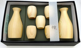 Grand service à saké Hinoki