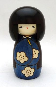 Kokeshi Le Jour que j'aime (bleu)