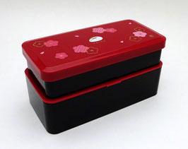 Boîte à bento Usagi et Sakura, sac tissu (rouge)