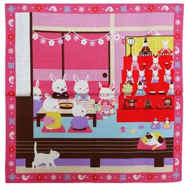 """Furoshiki """"Les lapins aussi fêtent Hina Matsuri !"""""""