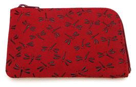 Porte-monnaie Inden Libellules (fond rouge mat)