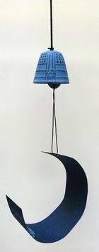 Clochette (fûrin) en fonte Iwachu (bleu clair)