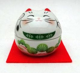 Petit boîte Warabe Maneki-Neko motifs Arbres et Végétaux