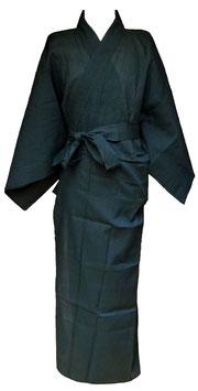 Yukata Shijira bleu foncé, emblème Tokugawa au dos