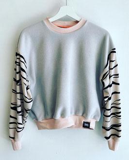 Zebra Sleeve Sweat