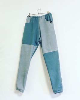 Track Pants Denim Patchwork unisex