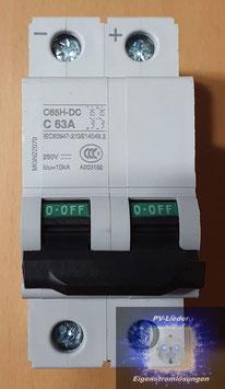 DC-Leitungsschutzschalter C65H-DC C63A, 2-polig