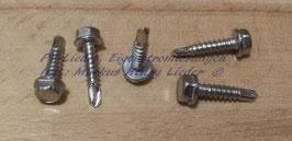 Bohrschraube mit Sechskantkopf und Bund, Form K, 4,2x19, A2, DIN7504