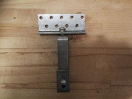 Dachhaken 3fach verstellbar Edelstahl, Grundplatte 1.4016, Haken 1.4016 30x5mm (Kennnummer 4600) (1.4016 ist nicht seewasserbeständig), pro Stück