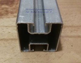 Profilrohr, Montageschiene, ALU, 40x40, 6,2 Meter Länge, pro Stück