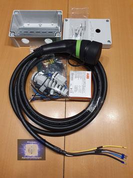 Easy Wallbox Bausatz B163 11kW mit Bluetooth und 5 Meter Ladekabel Typ-2