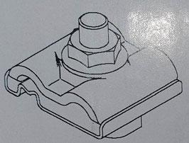 Blitzschutzklemme Dehn V2A, UNI-Erdungsklemme