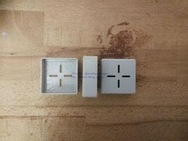 Endkappe für Montageschiene 40x40, Kunststoff, grau, pro Stück