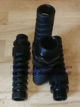 PA6 Kabelverschraubung M25x1,5 mit Knickschutz KB13-18mm incl. GM, pro Stück
