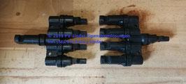 1 Paar MC4 Verteiler 4 Fach (Stecker Buchse Adapter 4/1)