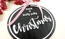 "Schild ""Holly Jolly"""