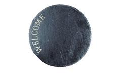 Unterteller, Platte Schiefer graviert (30 cm)
