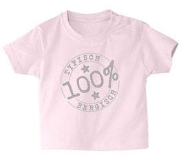 "Baby- / Kindershirt ""Typisch Bergisch"" rosa"