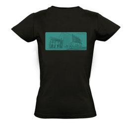 """Damen T-Shirt """"Lust auf Zukunft"""" (Zeichnung)"""