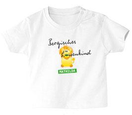 """Baby- / Kindershirt """"Bergisches Löwenkind"""" weiß"""