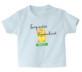 """Baby- / Kindershirt """"Bergisches Löwenkind"""" hellbau"""