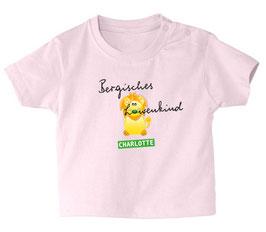 """Baby- / Kindershirt """"Bergisches Löwenkind"""" rosa"""