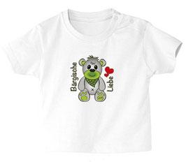 """Baby- / Kindershirt """"Bärgische Liebe"""" weiß"""