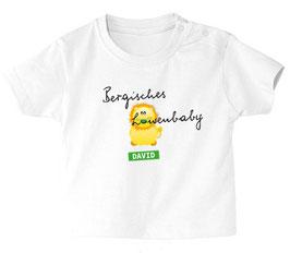 """Baby- / Kindershirt """"Bergisches Löwenbaby"""" weiß"""