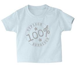 """Baby- / Kindershirt """"Typisch Bergisch"""" hellblau"""