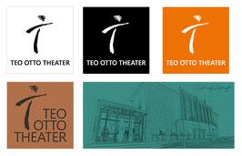 """Magnete im 5er-Set """"Logo Teo Otto Theater"""" + """"Lust auf Zukunft"""""""