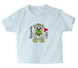 "Baby- / Kindershirt ""Bärgische Liebe"" hellblau"