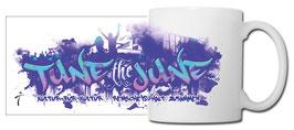 "Kaffeetasse ""Tune the June"", weiß"